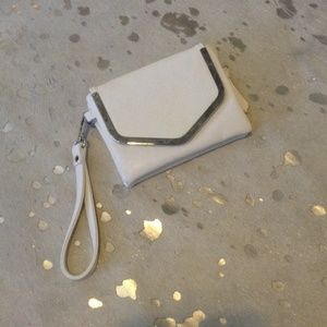 White and Silver Wristlet