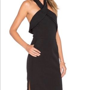 Finders Keepers high neck midi dress LBD