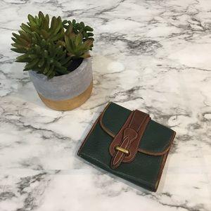 Vintage green dooney & Bourke wallet