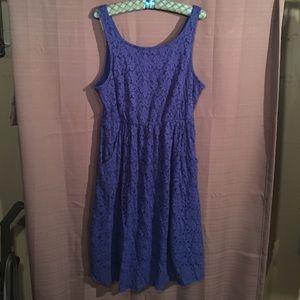 Size 1 Blue lace Torrid Dress