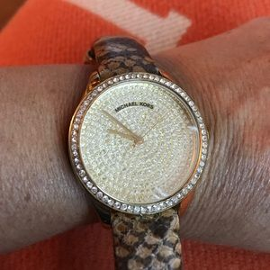Michael Kors Gold Swarovski Crystal Watch.