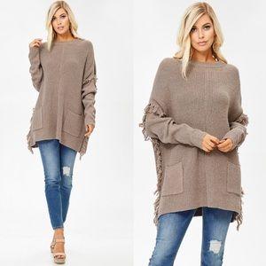Sweaters - Beautiful fringe detail sweater❤️