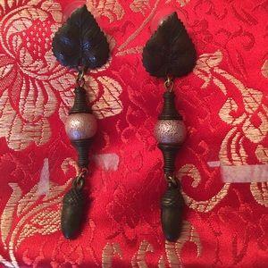 Jewelry - Vintage bronze Fall statement drop dangle earrings