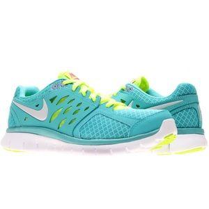 Teal Blue Nike FLEX RN Sneakers