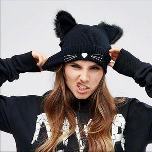 Cat ear winter hat