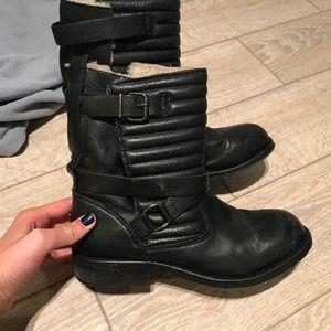 Zara faux fur bootie