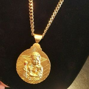 MENS 30 INCH 9.5 MM 18K GOLD FILLED MIAMI CUBAN