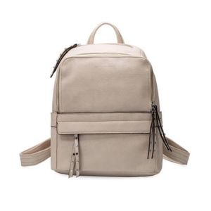 Lacey Backpack in Bone Premium Vegan Leather