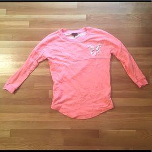 Rampage Pink Silver Bulldog Sweatshirt Bonjour