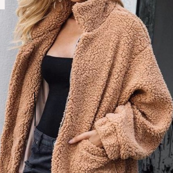 BehindHemlines Jackets & Coats | Brown Fuzzy Coat