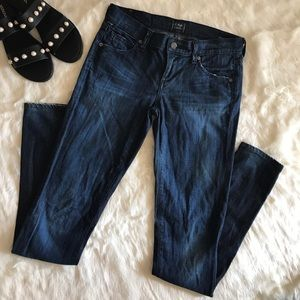 Citizens of Humanity low rise skinny leg jeans