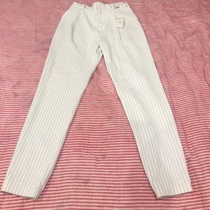 Pants - White striped pants