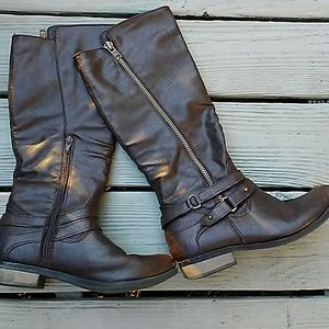Rampage brown knee high boots!