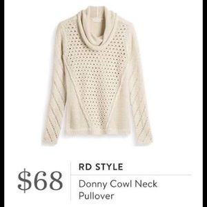 RD STYLE Stitch Fix cowl neck beige sweater M