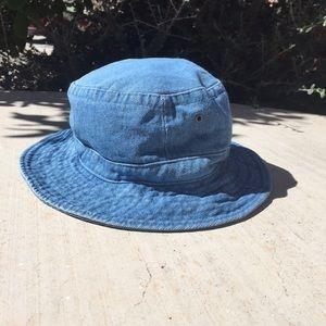 Vintage denim bucket hat