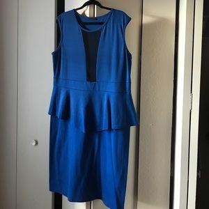 Dresses & Skirts - Sexy peplum blue dress