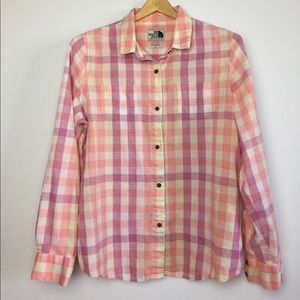 The North Face Gingham Plaid Long Sleeve Buttonup