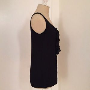 LOFT ruffle black top