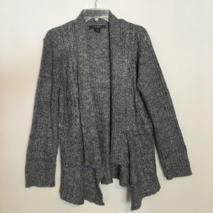 Loose Knit Oversized Woven Cable Sweater Cardigan