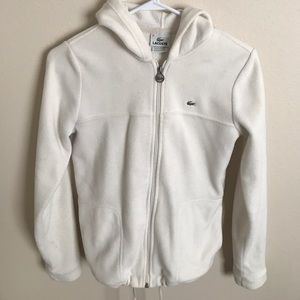Lacoste hooded zip up jacket