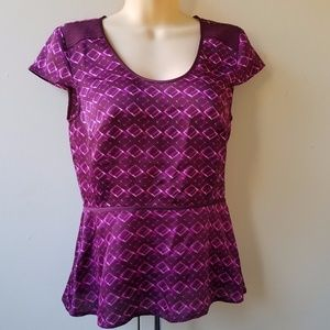 ANN TAYLOR Purple Women's Blouse
