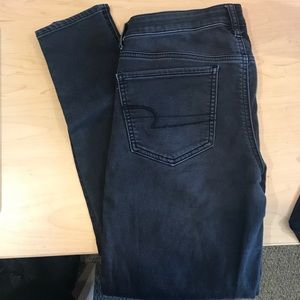 American Eagle black wash jegging 6