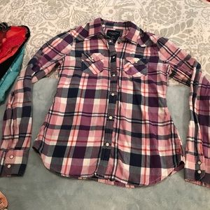 American Eagle Plaid Shirt S