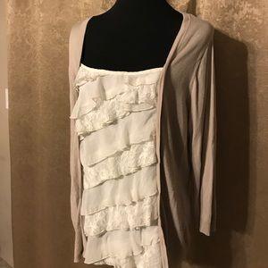 3/4 Sleeve Sweater Blouse