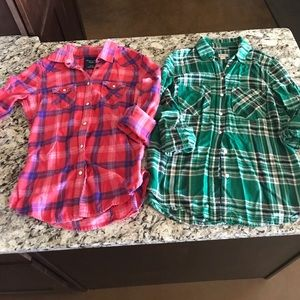Bundle of plaid shirts