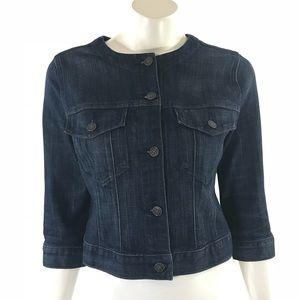 Old Navy Womens Jean Jacket Size Medium Dark Blue