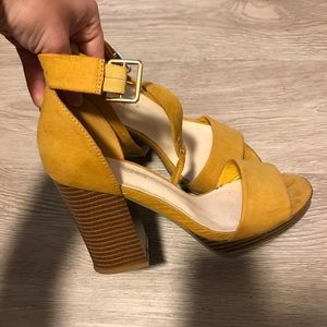 Yellow Heeled Sandals