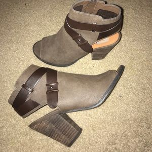 Dolce Vita open toed booties