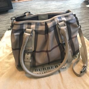 Burberry Natural Smoke Check Leather Northfield