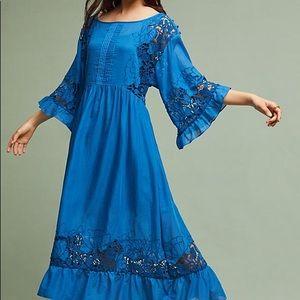 Anthropologie meadow flutter-sleeve dress