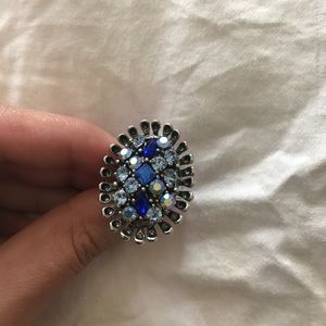 Different shades of blue ring