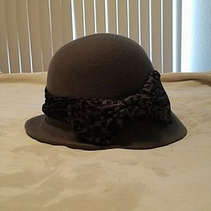 Grey Cloche Hat