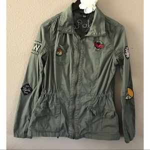 Green Cargo Jacket with Patches by Rue21