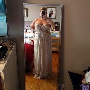 Rose gold sweetheart glitter dress
