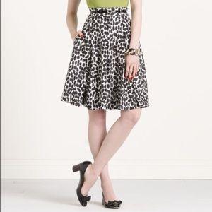 KATE SPADE Black + White A-Line Skirt