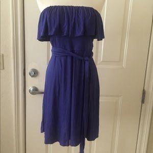 NWT BCBG Malia Strapless Ruffle Dress
