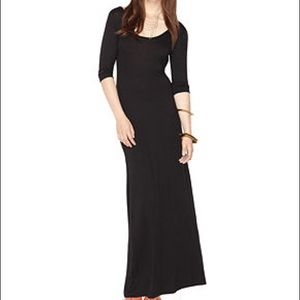 Bar III stretchy black maxi with sleeves