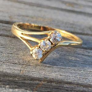 18k GF diamond ring💍