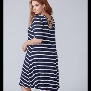 Lane Bryant black striped dress Size 18/20