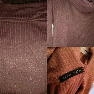 b408fd6844 Sweet Claire Dresses - Retro Cold Shoulder Oversized Mini Sweater Dress