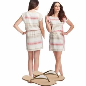Ann Taylor Loft Linen Striped Dress