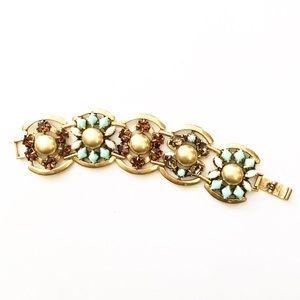 Stella & Dot Jeweled Floral Bracelet