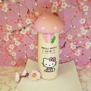 Hello Kitty pink and beige mushroom  thermos