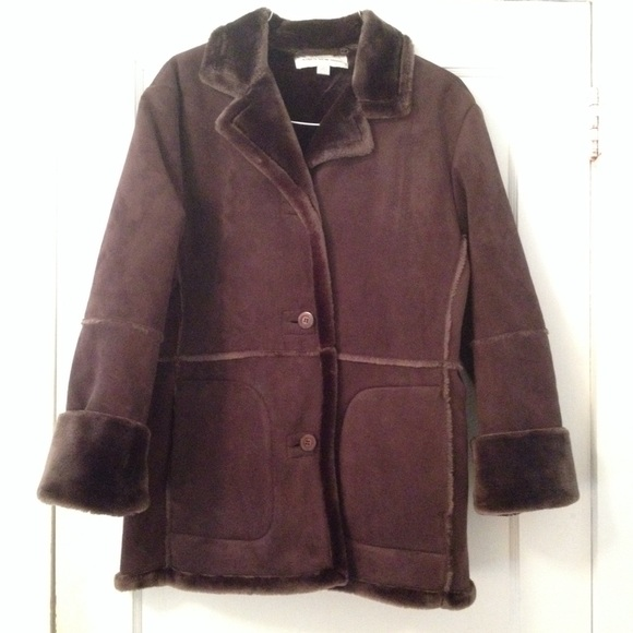 9257cf7ed Jones New York Jackets & Coats | Brown Faux Fur Coat | Poshmark