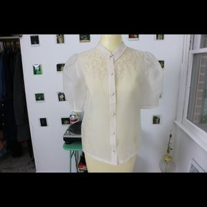 Chelsea Collared Chiffon Button Up