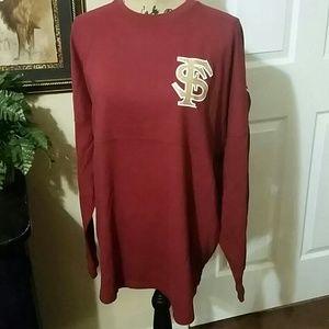 FSU Big Time red Glitter sweat shirt